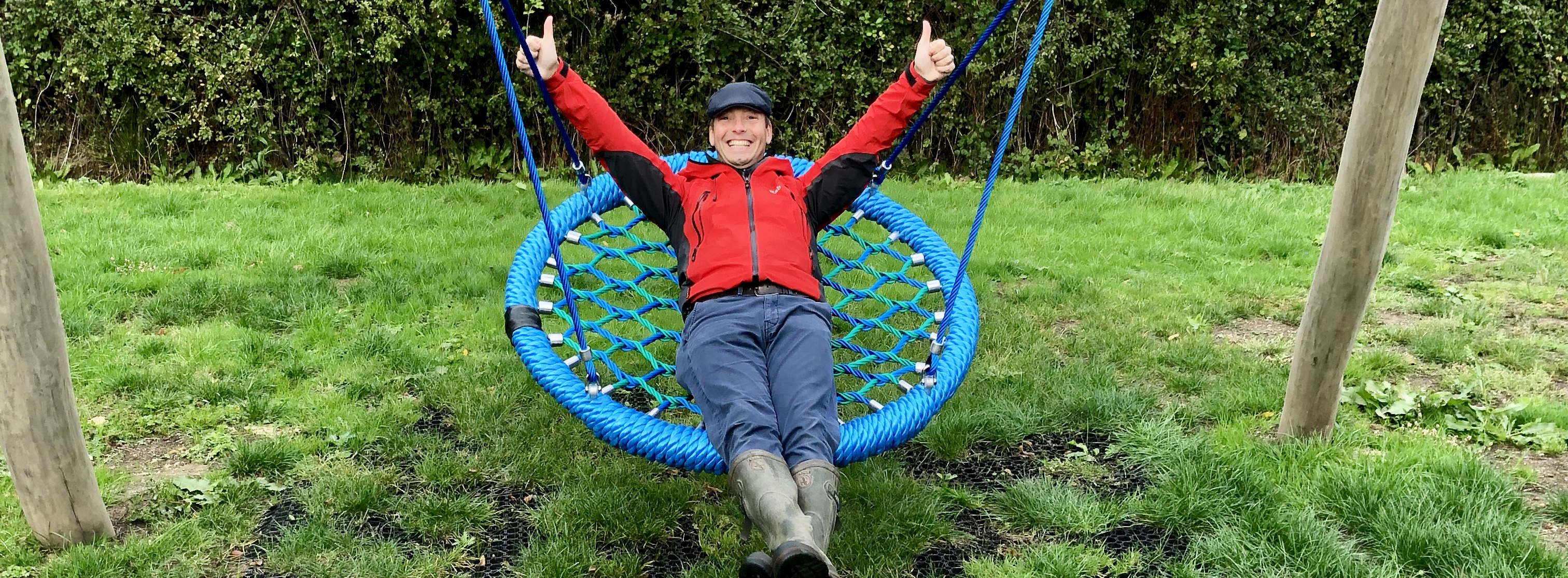 Cllr Tony Piedade on the new Crowsnest swing